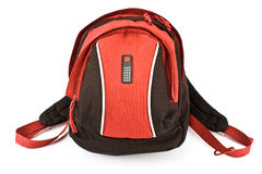 Red backpack Stock Photos