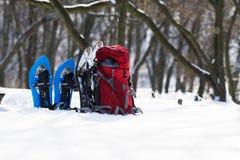 Preparing for a hiking among deep snow Stock Image