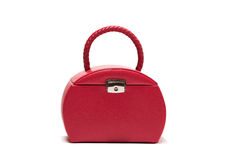 Red bag. Is isolated on white background royalty free stock photos