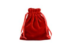 Red bag. With satin ribbon Royalty Free Stock Photos