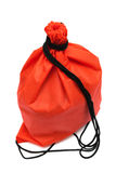 Red bag with black rope Royalty Free Stock Image