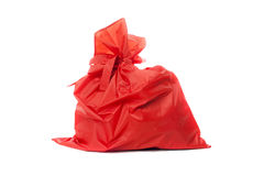 Red bag of Christmas gifts Royalty Free Stock Photography