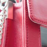 Red bag detail Stock Image