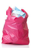 Red bag of garbage Stock Images