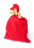 Red bag for gift w Royalty Free Stock Images