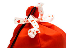 Red bag of gifts Stock Photo