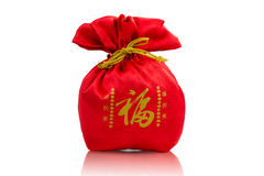 Red bag, greeting the new year in China Stock Images