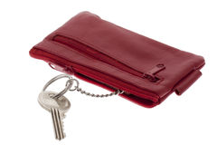 Red bag with key Royalty Free Stock Photo