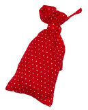 Red bag in polka dots Royalty Free Stock Image