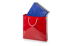Red Bag with present Stock Images