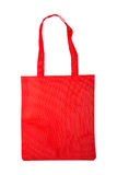 Red bag shopping. Isolated on white background royalty free stock photo