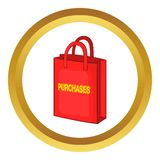 Red bag for shopping vector icon Royalty Free Stock Image