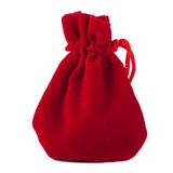 Red bag on white background Royalty Free Stock Photo