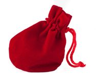 Red bag on white background Royalty Free Stock Photography
