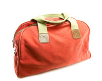 Red bag on white background royalty free stock images