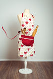 Red Baking Apron Royalty Free Stock Images
