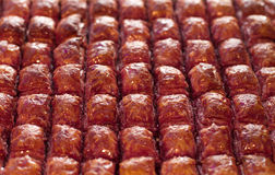 Red baklava dessert Stock Images
