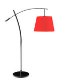 Red balanced floor lamp Stock Photos
