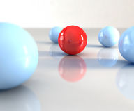 Red ball. A red ball with other blue around Royalty Free Stock Images