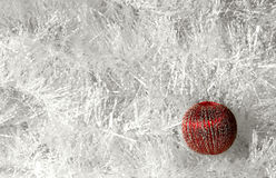 Red ball. Christmas ornament Royalty Free Stock Image