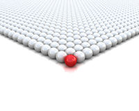 Red ball 3d render illustration Royalty Free Stock Photo