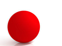 Red ball. Abstract Red ball isolated on white background Stock Image