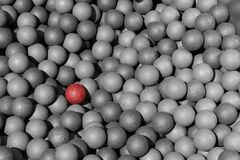 Red Ball Amongst The Gray Stock Photos