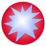 Red ball with blue star Royalty Free Stock Images