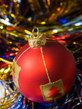 Red ball of christmas Stock Photography