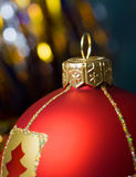 Red ball of christmas Stock Image