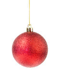 Red ball christmas on white background. S royalty free stock photography