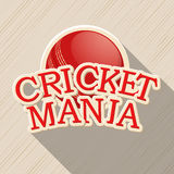 Red ball for Cricket Mania. Royalty Free Stock Images
