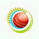 Red ball for Cricket sports concept. Stock Image