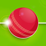 Red ball for Cricket sports concept. Royalty Free Stock Image