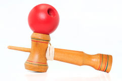 Red ball of kendama. Red ball of kendama,japannese toy Royalty Free Stock Photography