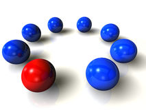 Red ball network Stock Photography