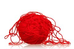 Red Ball Of Yarn Stock Images