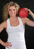 Red Ball on Shoulder Stock Photography