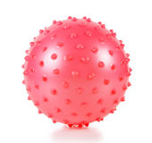 The red ball with spikes royalty free stock images
