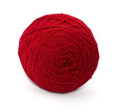 Red ball of threads Stock Photo