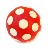 Red ball with white spots Stock Images