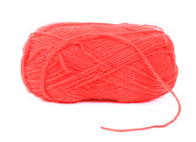 Red ball of wool Stock Images