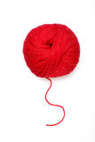 Red ball of wool Stock Photos