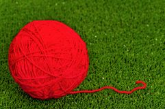 Red ball of yarn Stock Photography