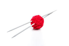 Red ball of yarn Royalty Free Stock Photography