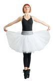 Red ballerina wearing tutu Stock Images
