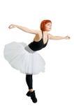 Red ballerina wearing tutu Stock Photography