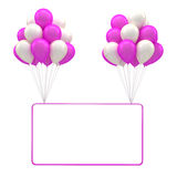 Red ballon for party, birthday Stock Images