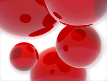 Red ballons Royalty Free Stock Photography