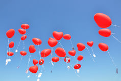 Red ballons Stock Image